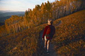 hiker in fall